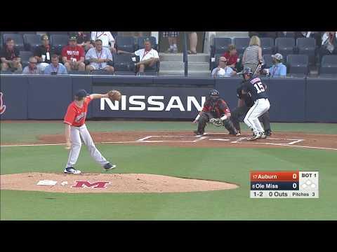 Auburn Baseball vs Ole Miss Highlights Game 1