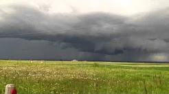 Crazy Alberta weather june 8 2012 near Calgary Strathmore