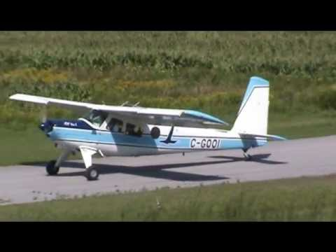 Helio H-391B Courier Serial Number 001 Taxiing and Takeoff CSU3