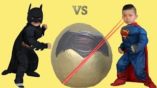 Batman Vs Superman Dawn Of Justice Toys Super Giant Surprise Egg Opening Ckn Toys thumbnail