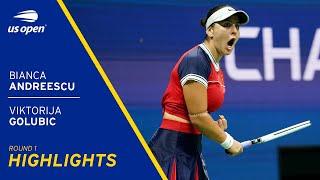 Bianca Andreescu vs Viktorija Golubic Highlights | 2021 US Open Round 1