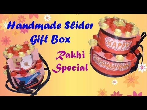 Handmade Slider Gift Box// Raksha Bandhan Special//open