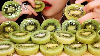 Compote, eating green kiwi