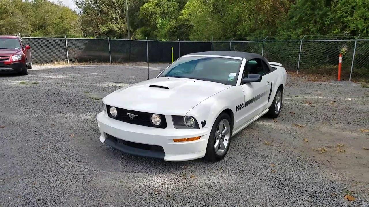2008 Mustang Gt Cs Convertible Youtube