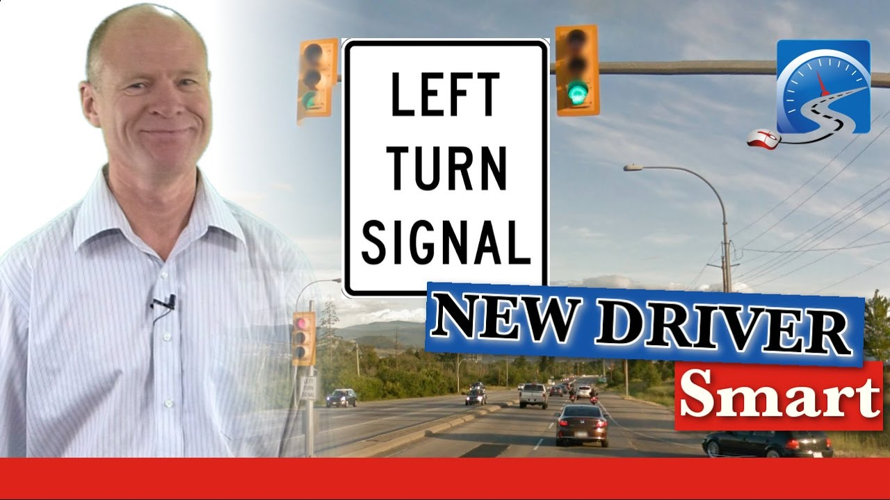 how to turn left at left turn signal turning smart youtube