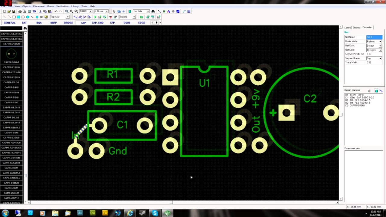 design your own guitar pedal pcb layout double sided part 1 youtube. Black Bedroom Furniture Sets. Home Design Ideas