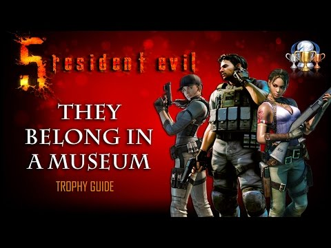Resident Evil 5 PS4 - They Belong in a Museum Trophy Guide (Obtain all treasures in the game)