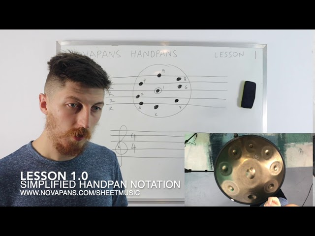Learning the Handpan: Lesson 1 / Simplified Handpan Notation by NovaPans Handpans