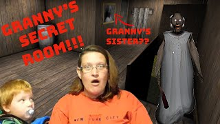 Granny Horror Game! Secret Room Discovered! Plus We Find An Attack Bird That Tries To Eat Us!