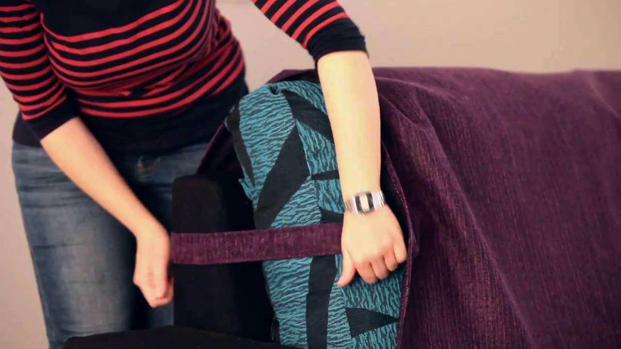 Salvadivano chaise longue con posabraccia cuciti youtube - Copridivano su misura ...