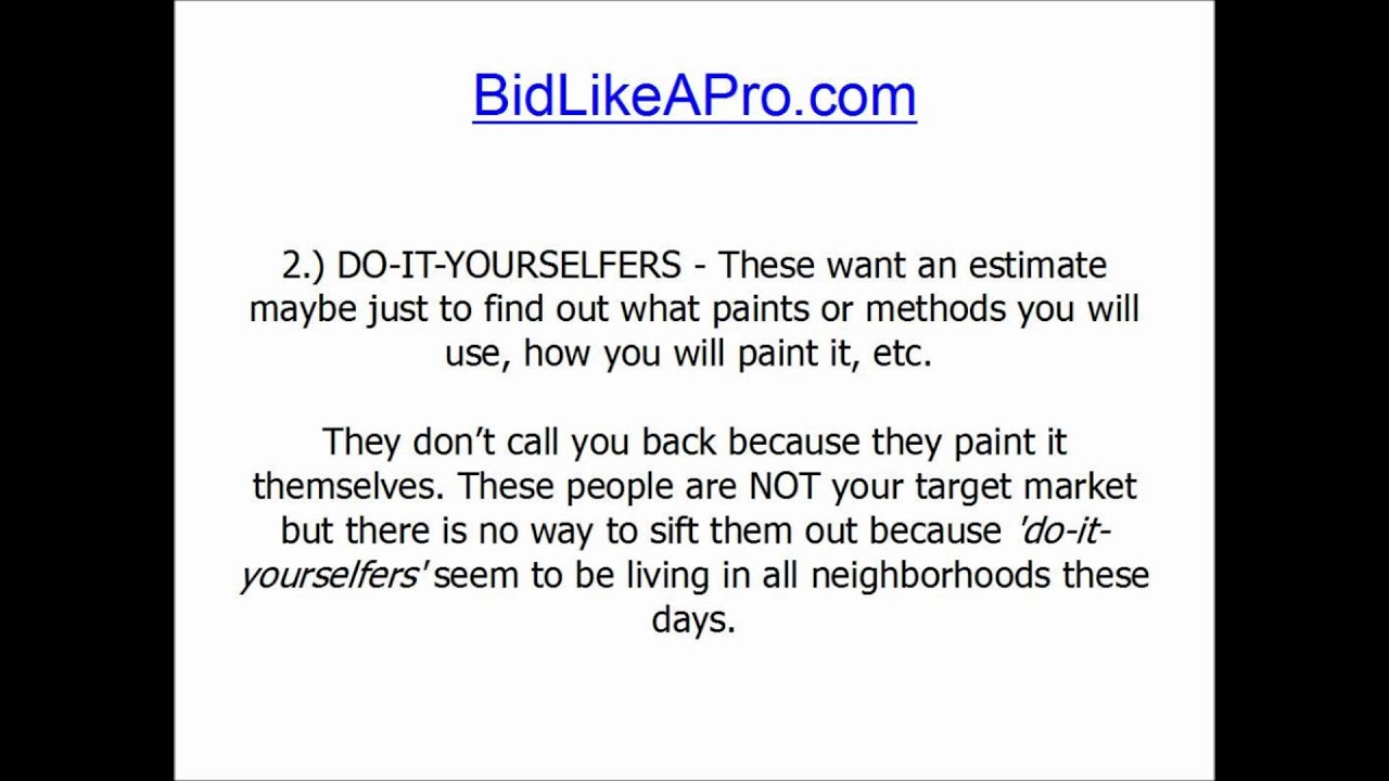 How To Bid Paint Jobs - YouTube