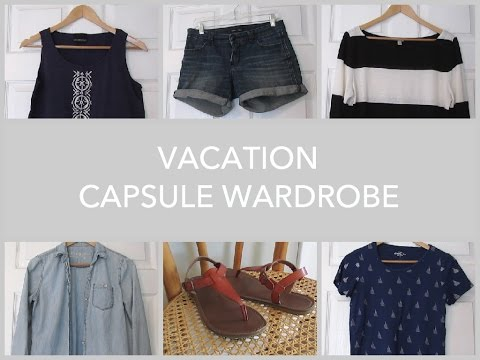 Vacation Capsule Wardrobe | Packing Light