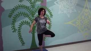 Allied Yoga teacher Carol Gardner teaches vrksasana (tree pose) -4 ways