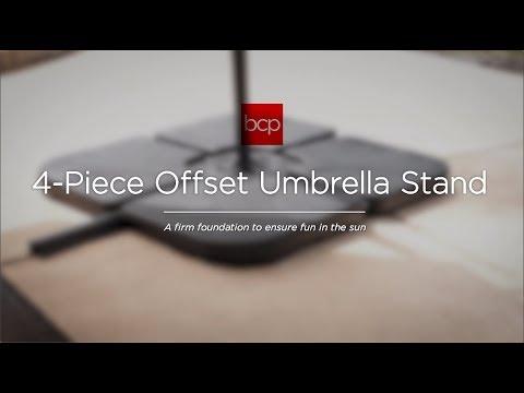 SKY3257 4 Piece Cantilever Offset Patio Umbrella Stand Square Base Plate Set
