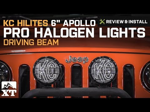 "Jeep Wrangler KC HiLiTES 6"" Apollo Pro Halogen Lights (1987-2018 YJ, TJ, JK) Review & Install"