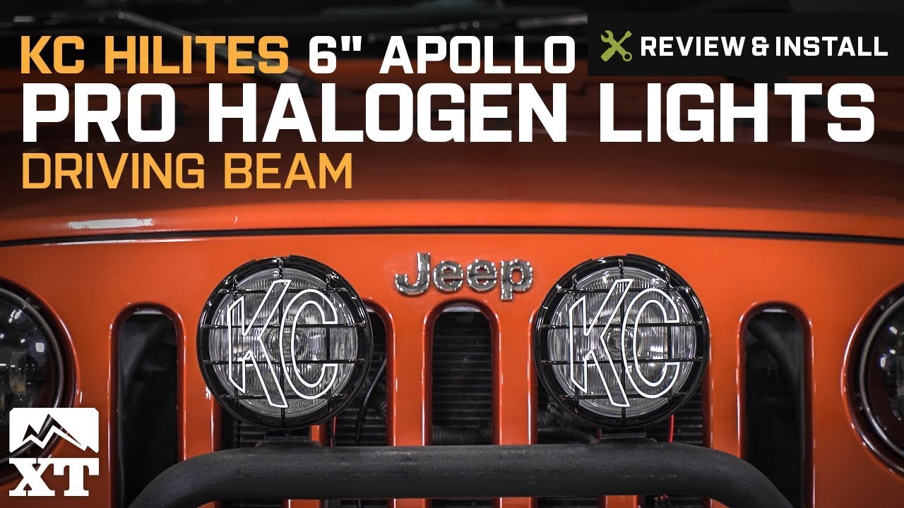 Jeep Wrangler Kc Hilites 6 Apollo Pro Halogen Lights 1987 2018 Yj Light Wiring Harness Tj Jk Review Install