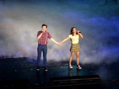 Rachel and Kurt singing Defying Gravity at gLee LIVE!