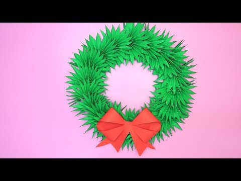 DIY Christmas Wreath | How to Make Paper Christmas Wreath