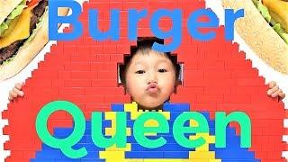 🍔 Lego brick burger king logo 🤴 means 🧀 cheese egg burger queen🍳 (Lego Mukbang S2 EP 1)