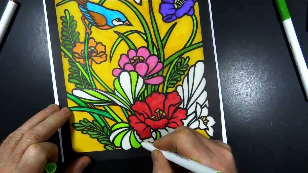 Stained Glass Coloring Book 1 - YouTube