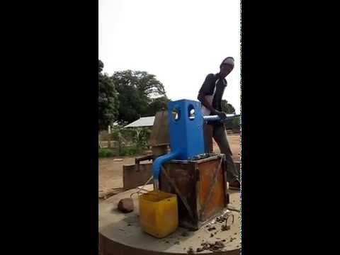 Gambia Lifewater Project 4-21-15 Dankunku Health Center Bluepump Installation 3 of 3 Water Charity