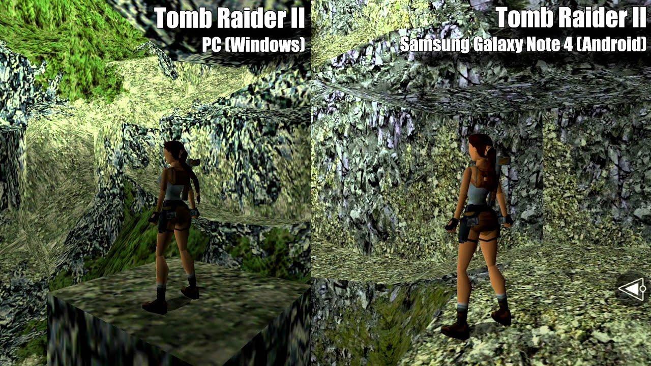 Samsung Mobile 3d Live Wallpaper Tomb Raider Ii Mobile Version Vs Pc Comparison Youtube