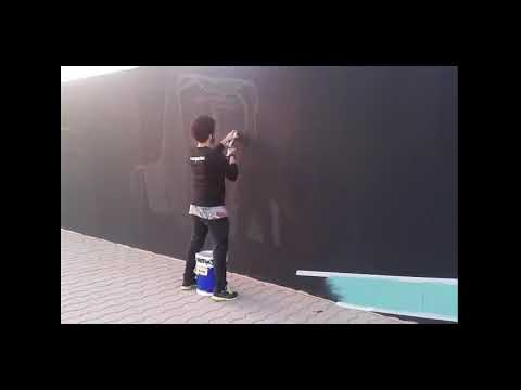 Biggest Spray wall painting art in Jeddah
