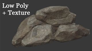 Game Assets - Small Rocks - Part 4 - Low Poly and Texture