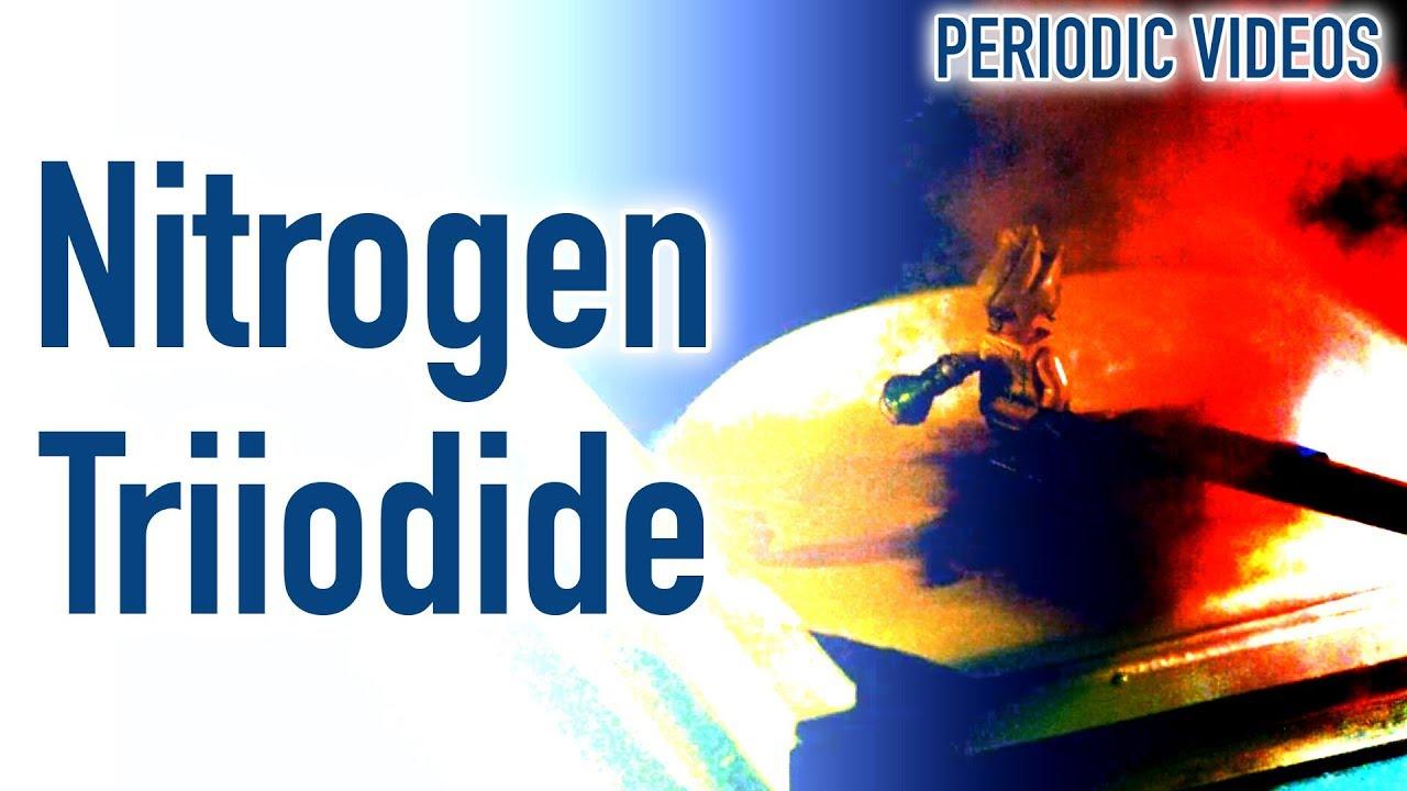 Nitrogen triiodide touch powder periodic table of videos youtube nitrogen triiodide touch powder periodic table of videos urtaz Gallery