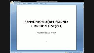 Renal Profile and Extended Renal Profile PPT 2