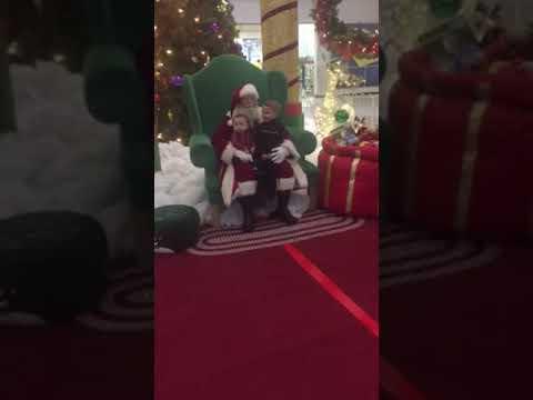 Levi and Noah see Santa