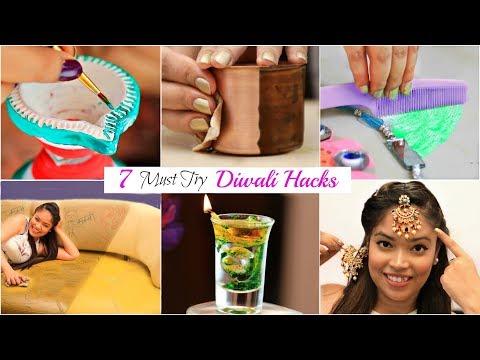 7 DIWALI Hacks You MUST Try - Decoration Ideas | #LifeHacks #Fun #Anaysa