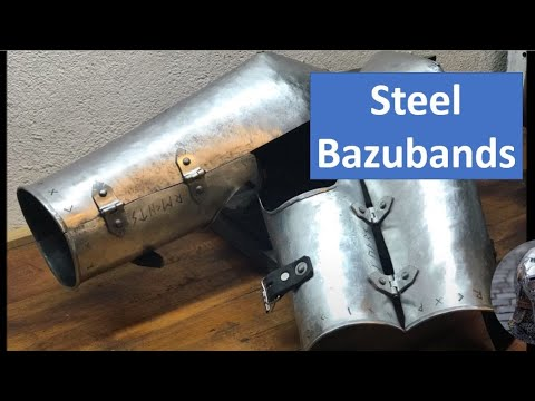 Crafting Steel Bazubands / Unterarmschutz für Slavische Darstellung