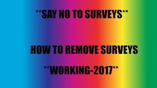 How to Bypass Surveys For FREE 2017 Working!!
