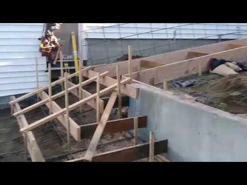 Charming Veterans Concrete,..stair Form Work / Rebar Progress