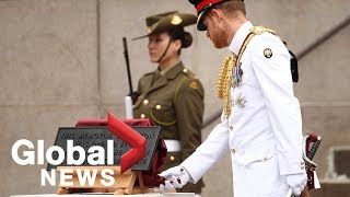 Prince Harry, Meghan Markle unveil plaque at ANZAC Memorial in Australia