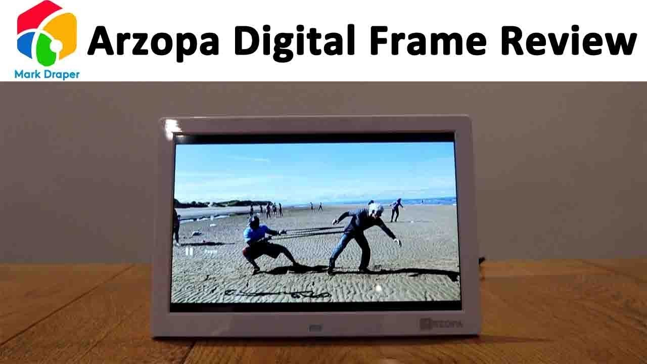 Arzopa 10 inch Widescreen Digital Photo Frame Review - YouTube