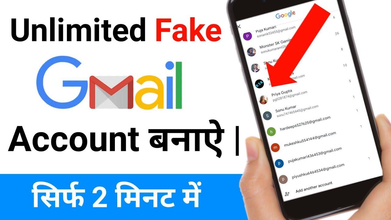 Fake google account phone number