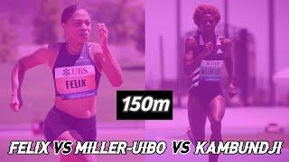 ALLYSON FELIX VS MILLER-UIBO 150m | Inspiration Games 2020