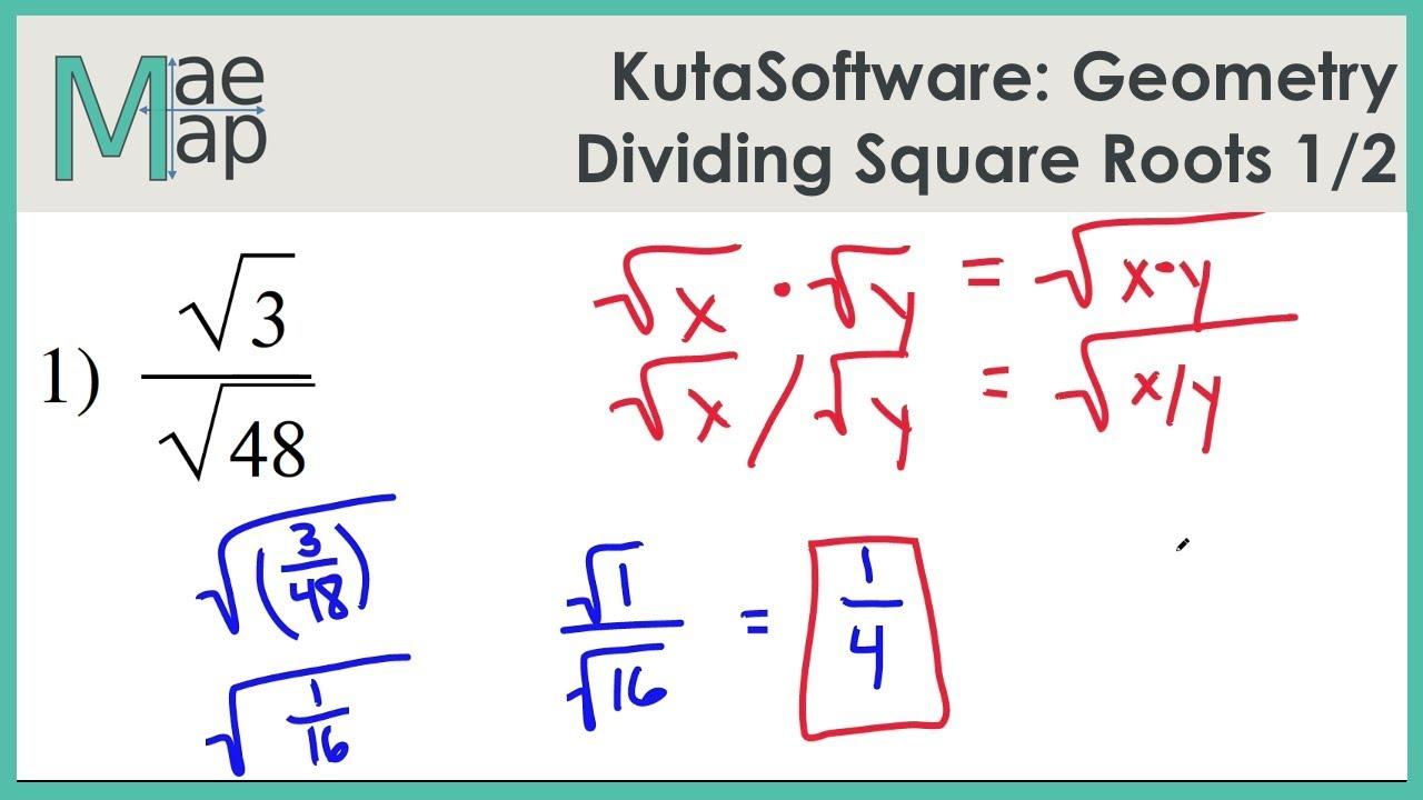 kuta software-infinite geometry simplifying square roots