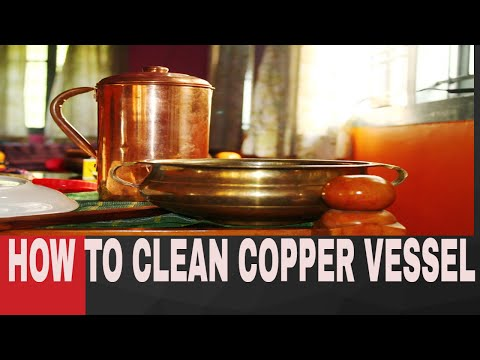 how to clean copper vessels (HINDI)  # 17 #