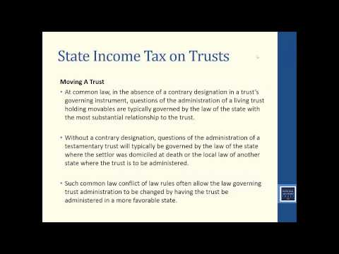 Trust Education: Income Tax Planning For Trusts (December 20