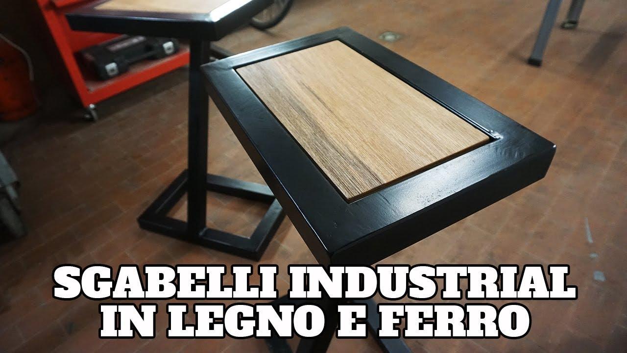 Sgabelli industrial in ferro e legno con faidamen youtube