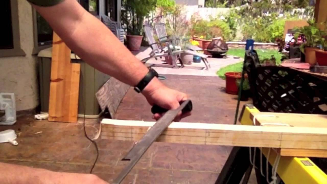 Making an Inexpensive 75 lb Laminated Hickory Bamboo English Longbow