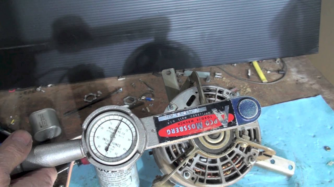 PSC motor operation: staring torque and the run cap - YouTube