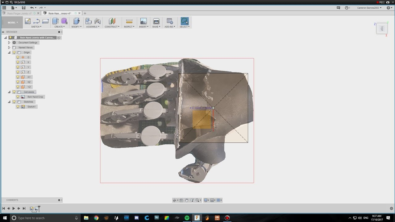 Rein Hand Joints Fusion 360 - YouTube