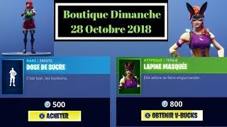 "FORTNITE BOUTIQUE Halloween from October 28Th New Skin - Emote ""Masked Lapine and Sugar Dose"""