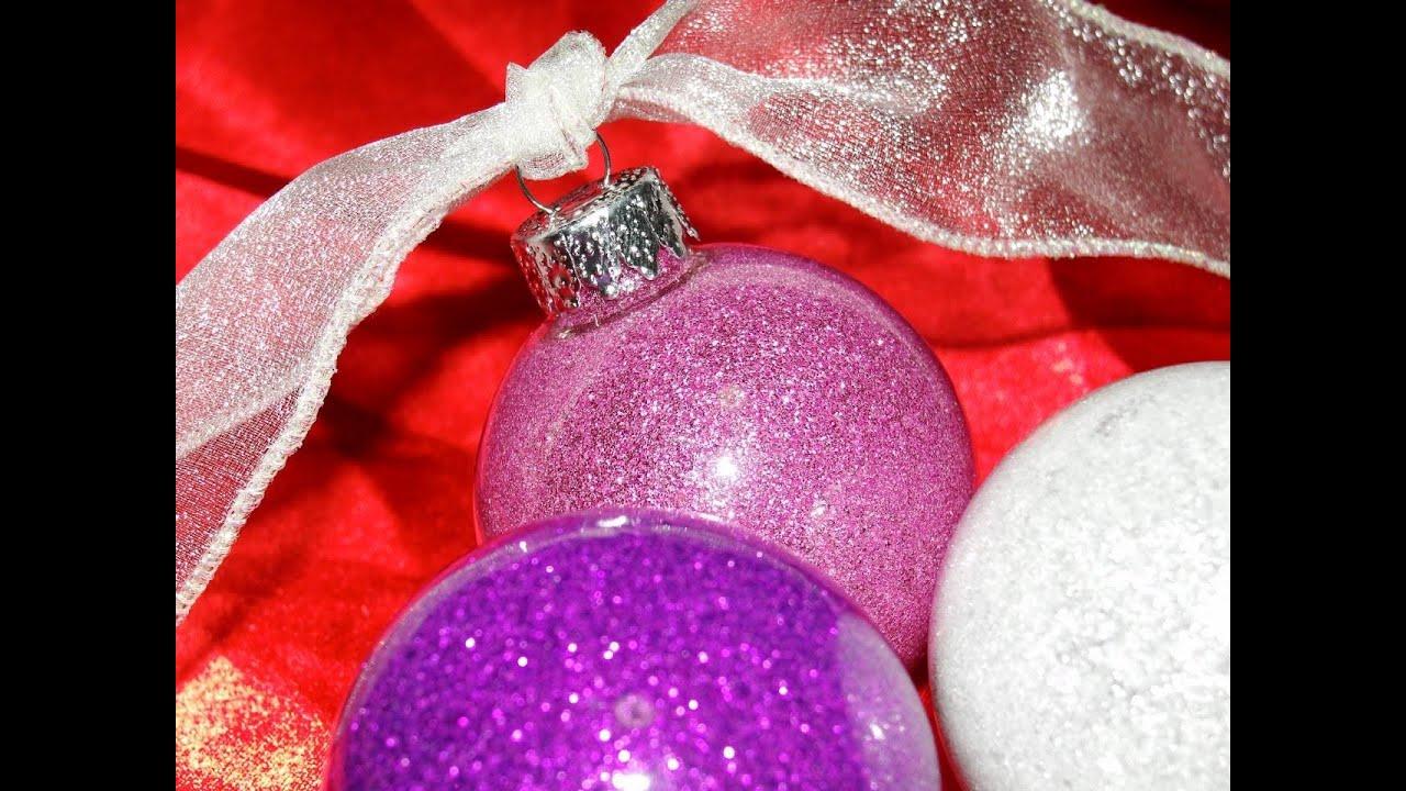 glitter floor wax ornaments youtube