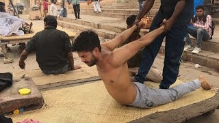 Complete Street Indian Body massage at Banks of the Ganges Part-2| 4K
