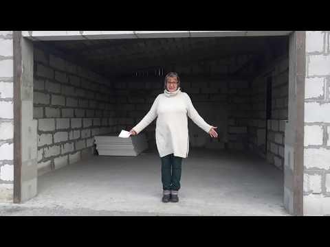 Как построить гараж из газобетона своими руками видео